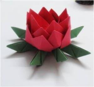 中秋节的折纸-中秋节莲花灯折纸教程图片