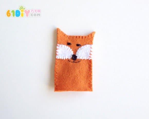 不织布手工制作小狐狸手指偶