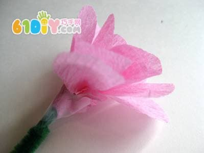 皱纹纸花diy制作_综合其它_巧巧手幼儿手工网