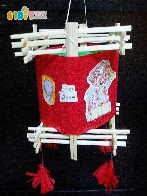 一次性筷子手工制作灯笼