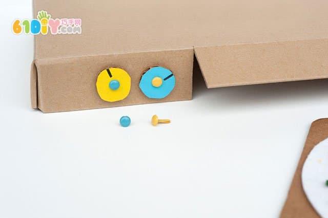 玩教具:鞋盒子手工制作披萨烤箱