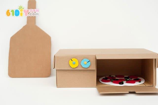 鞋盒子手工制作披萨烤箱