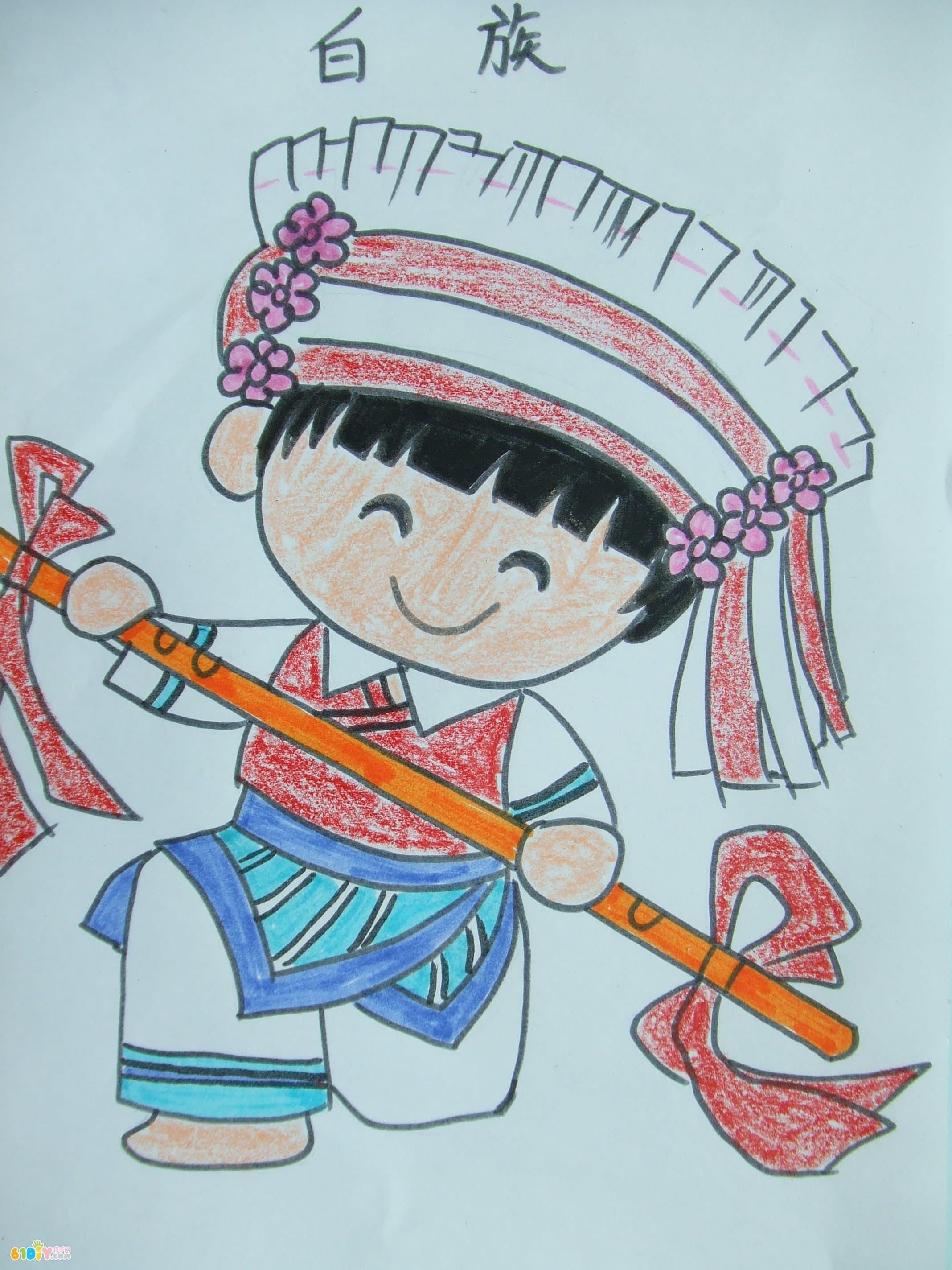 56个民族卡通简笔画(彩色版)