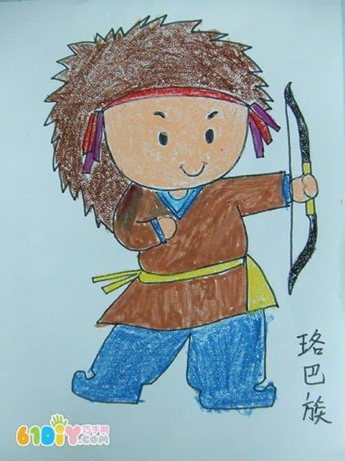 56个民族卡通简笔画 彩色版 5