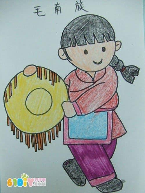 56个民族卡通简笔画(彩色版)(3)