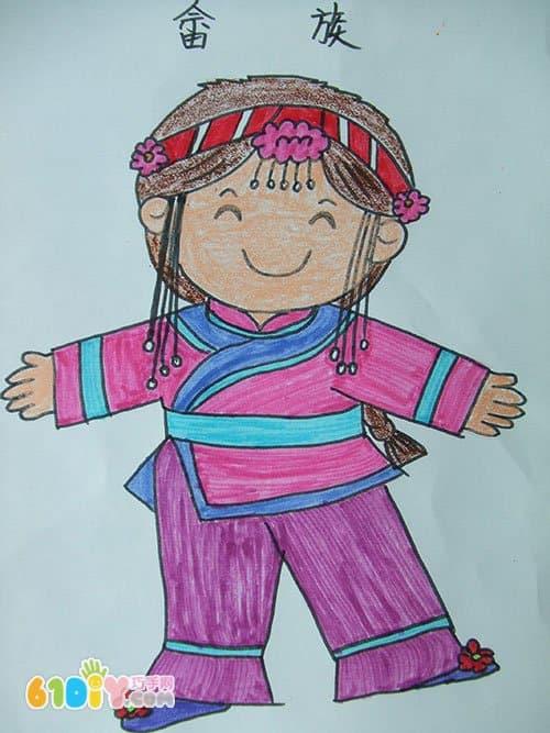 56个民族卡通简笔画 彩色版 7