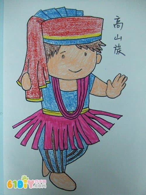 56个民族卡通简笔画(彩色版)(2)