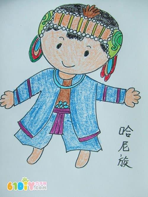 56个民族卡通简笔画 彩色版