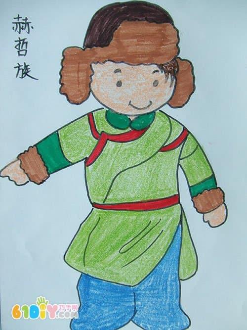 56个民族卡通简笔画 彩色版 2