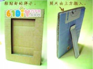 开心果壳纸板相框diy_纸盒手工_巧巧手幼儿手工网