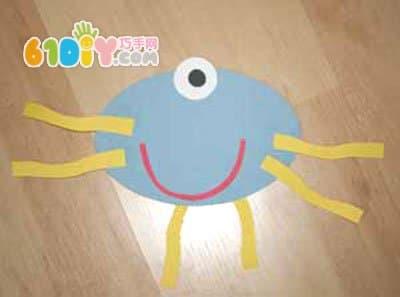 幼儿手工diy可爱的图形拼贴小怪物