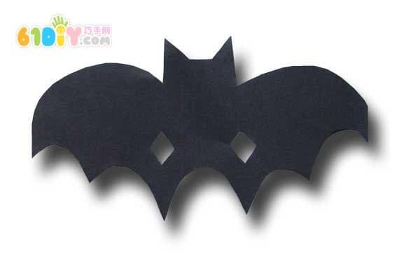 儿童手工diy万圣节蝙蝠面具