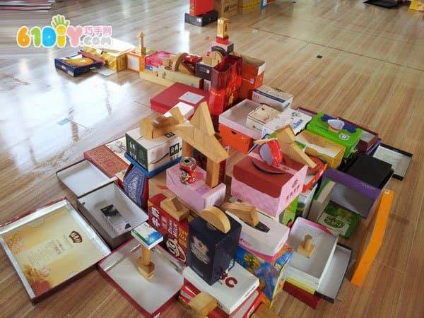 纸盒房子手工作品_纸盒手工