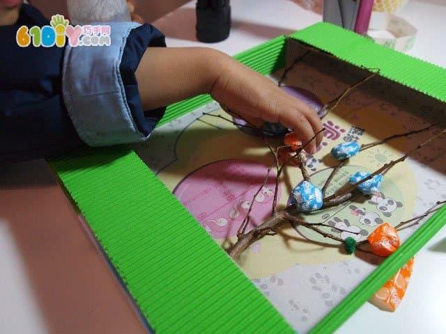 废纸盒手工制作许愿树