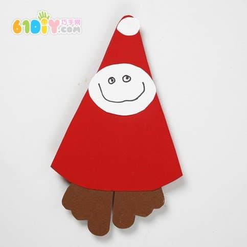 卡纸制作圣诞挂饰 圣诞老人