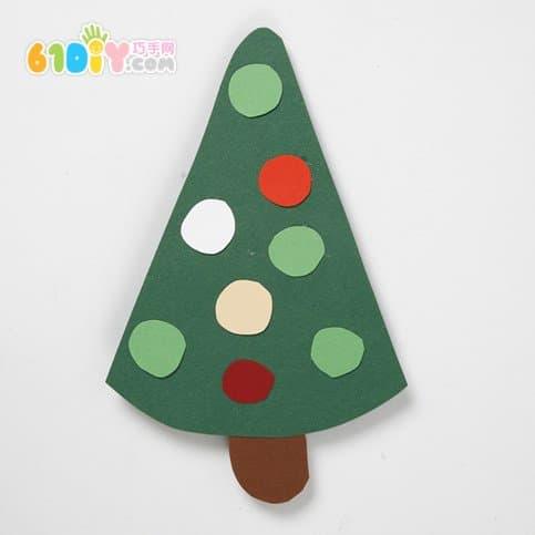 圣诞节手工卡纸粘贴画图片_画画大全