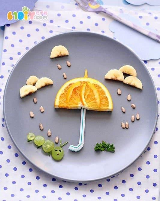 果蔬拼盘 雨伞的创意美食 趣味美食DIY 巧巧手