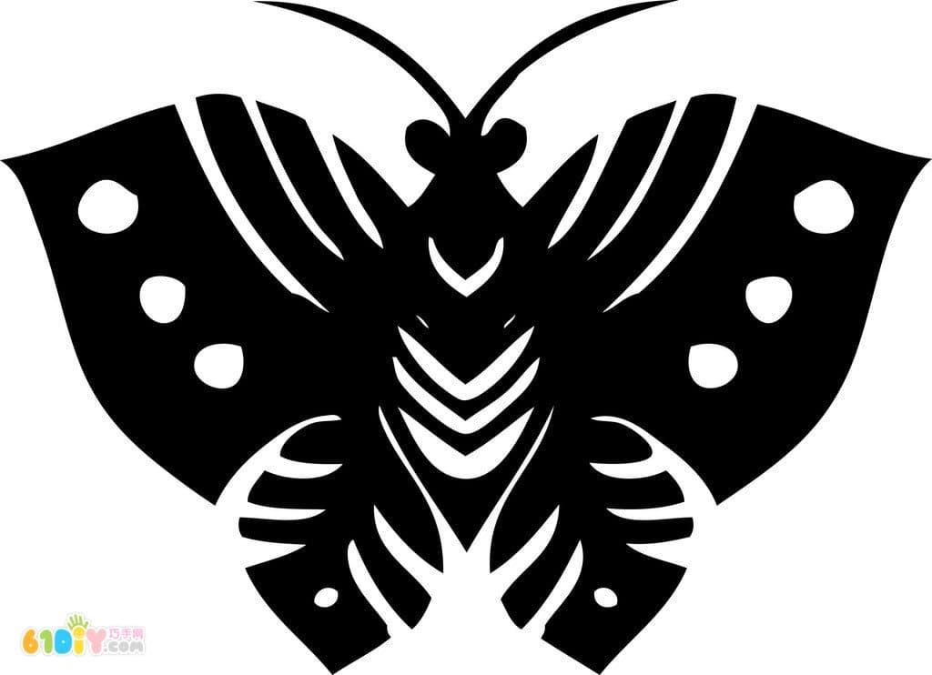 漂亮的蝴蝶剪纸图案
