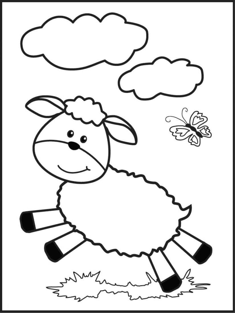 创意diy 爆米花小绵羊贴画图片