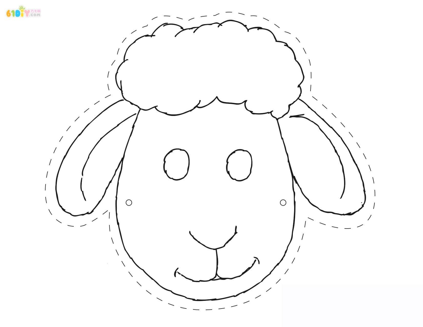 简单画面具手绘图