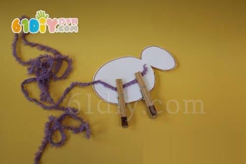 羊年手工 怎样制作毛线小羊