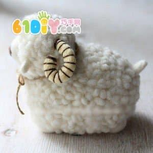 羊毛毡教程 可爱小绵羊