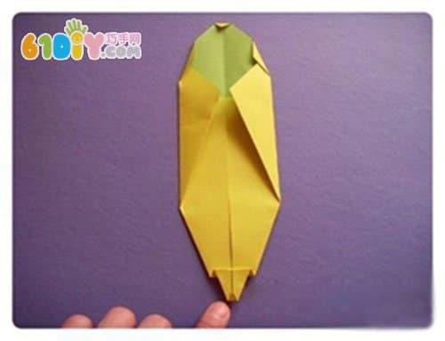 香蕉折纸手工_水果折纸_巧巧手幼儿手工网