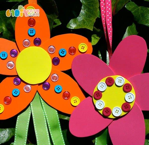 儿童春天diy 海绵纸花朵