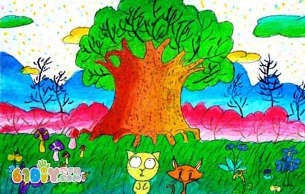 关于春天的儿童画作品_快乐涂鸦_巧巧手幼儿手工网