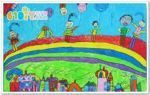 ...儿童画-一起来吹泡泡   儿童节 六一   欢度六一儿童节图画 ...