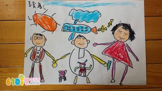 儿童画作品《全家福》(3)图片
