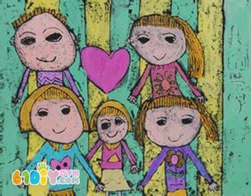 儿童画作品《全家福》(4)图片