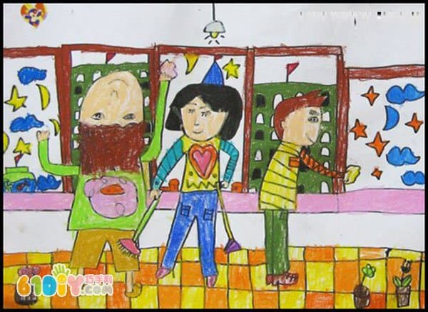 五一劳动节儿童画作品