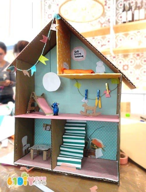 儿童手工房子图片