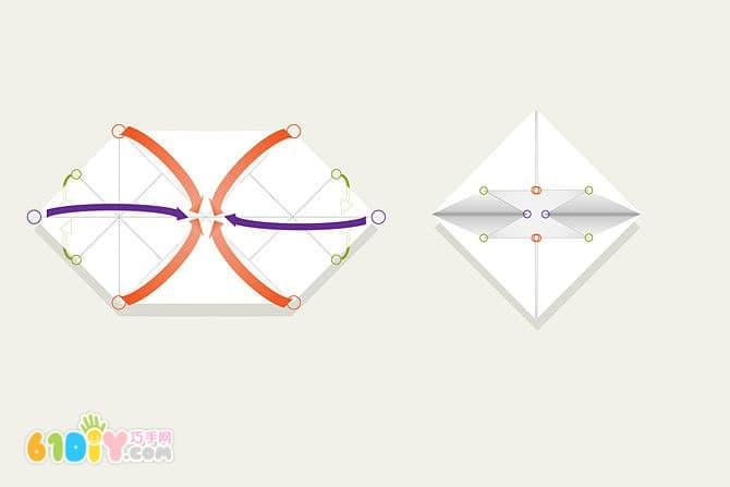 爱心折纸教程(2)