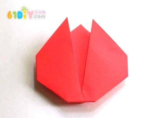 母亲节手工 折纸郁金香花贺卡制作