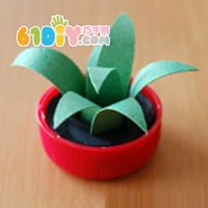 怎样制作立体小植物_综合其它_巧巧手幼儿手