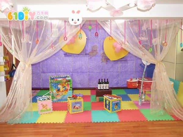 首页 幼儿园环境布置 区角 音乐表演区  幼儿园活动区布置:表演区