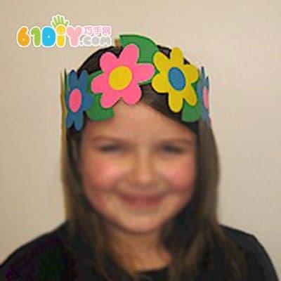 幼儿园演出道具 花朵头套