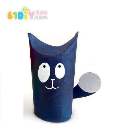 卷纸筒手工diy小猫咪
