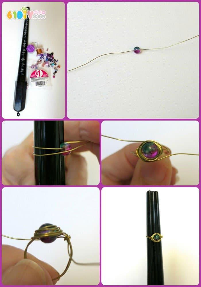 铁丝手工制作个性戒指 综合其它 巧巧手幼儿手工网