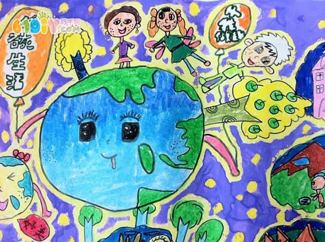保护环境儿童简笔画