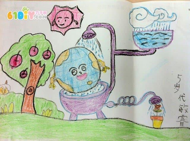 保護地球兒童畫作品