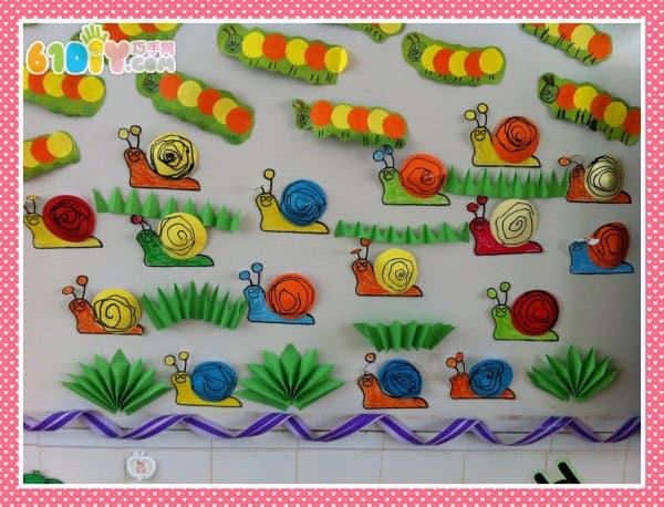 幼儿园手工展示墙图片,幼儿园墙上手工装饰,幼儿墙面布置简单漂亮图片