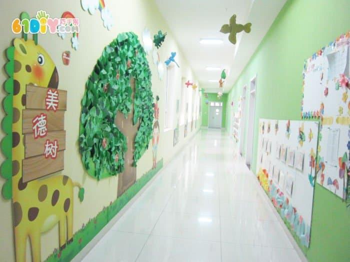 幼儿园精美走廊布置图片