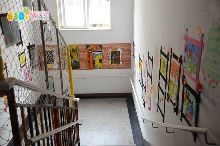 幼儿园楼梯墙面装饰 艺术装饰画