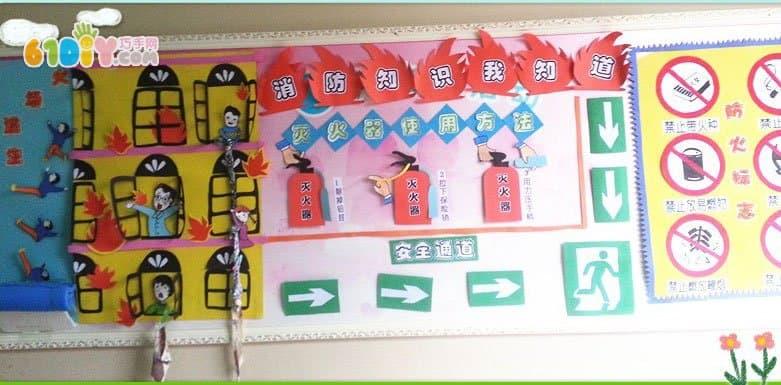 消防安全主题墙布置 消防安全知识