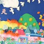 幼儿园秋天主题墙 秋天的画报图片