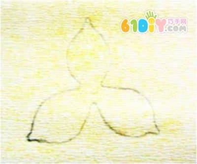 皱纹纸手工花教程 水仙花制作