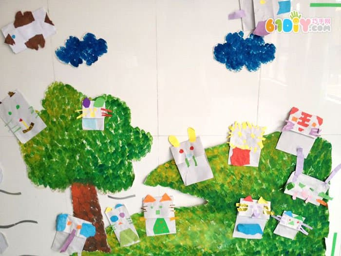 幼儿园动物朋友主题墙